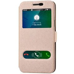 Чехол книжка для Samsung Galaxy J7 Neo J701 View Cover Золотой