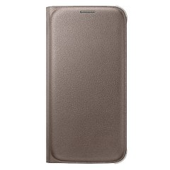 Чехол книжка для Samsung Galaxy S6 G920 Flip Wallet Cover Копия Золотой